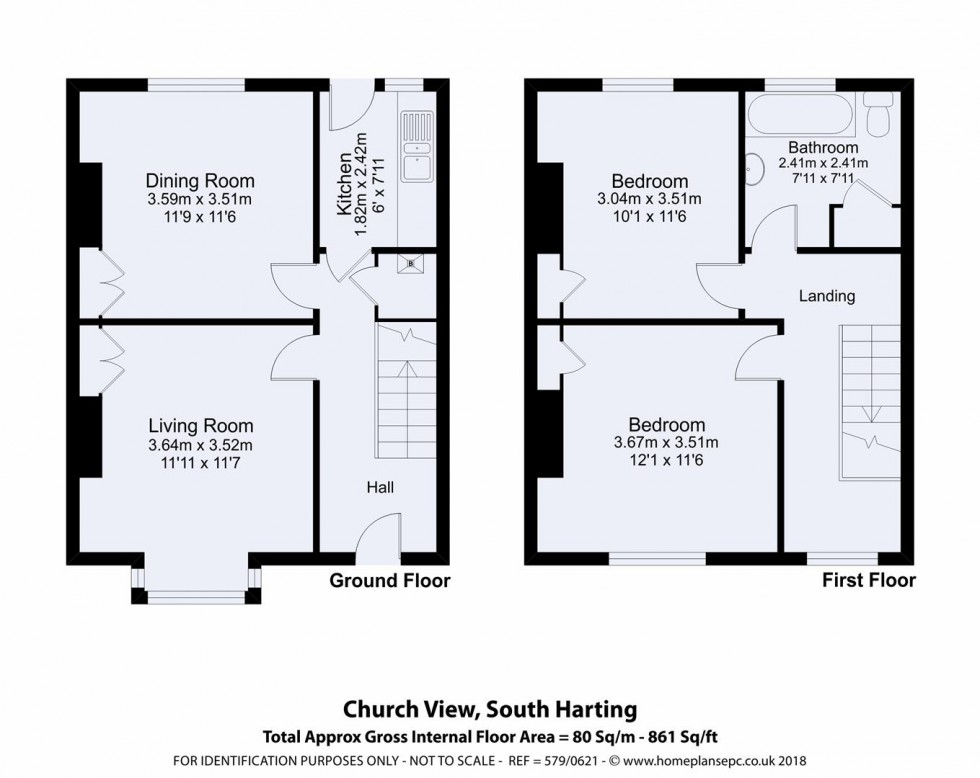 Floorplan for South Harting, Petersfield