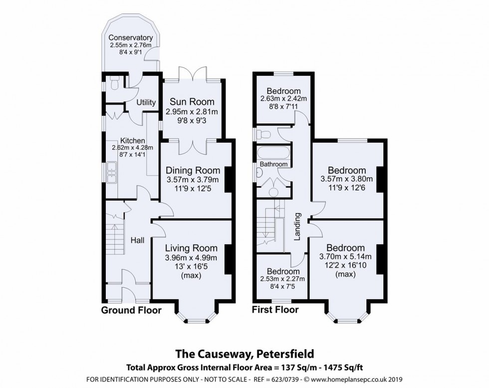 Floorplan for The Causeway, Petersfield