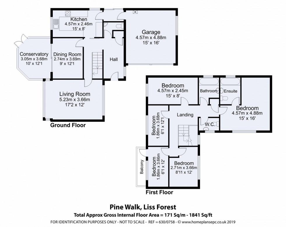 Floorplan for Liss Forest, Liss, Hampshire