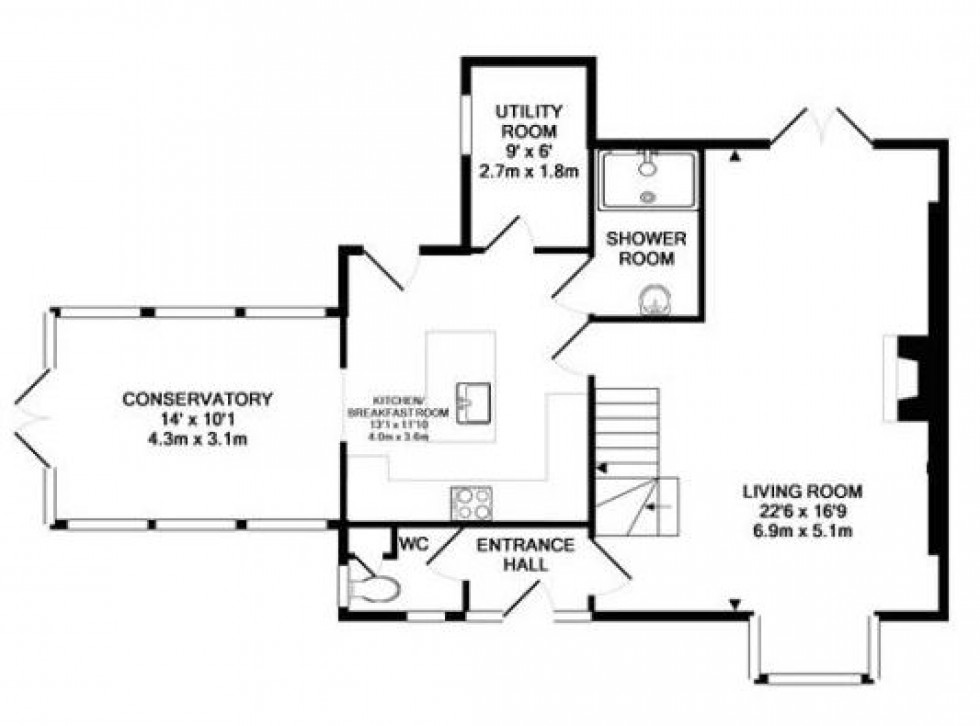 Floorplan for Rogate Road, Hill Brow, Liss
